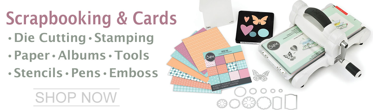 Scrapbooking - Die Cutting, Stamping, Paper, Inks - Everything to create memories.